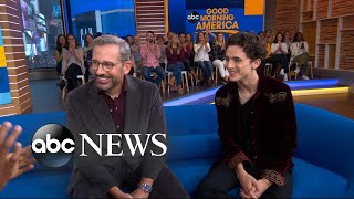 "Chalamet and Steve Carell speak out on ""GMA"" about their new movie, ""Beautiful Boy,"" that shows a father's struggle to help his drug-addicted son. WATCH ..."
