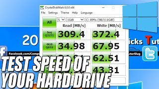 How To Test The Speed Of Your Hard Drive | TEST PERFORMANCE OF YOUR HDD OR SSD