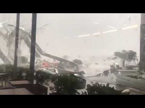 Cradlestone mall on the west rand in johannesburg destroyed by hail storm. Must watch