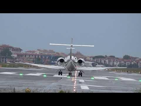 Hawker 800XI (CS-DRW) RW04 takeoff San Sebastian-Donostia airport (EAS/LESO)