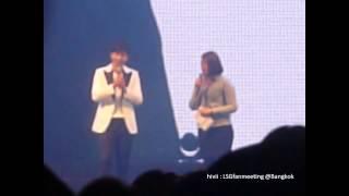 [Fancam] 130810 Lee Seung Gi said Love Love Kiss Kiss รักนะจุ๊บๆ @The Brilliant Show in Thailand