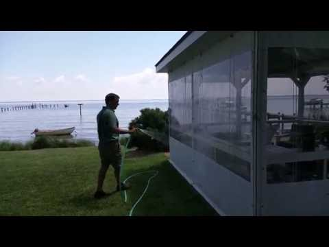 Clear Vinyl Weather Curtains for Protection from Rain, Snow, Dirt & Wind.