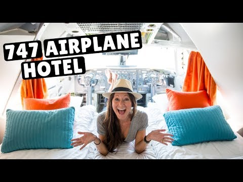 747 AIRPLANE - WORLDS COOLEST HOTEL | Cockpit Suite Tour