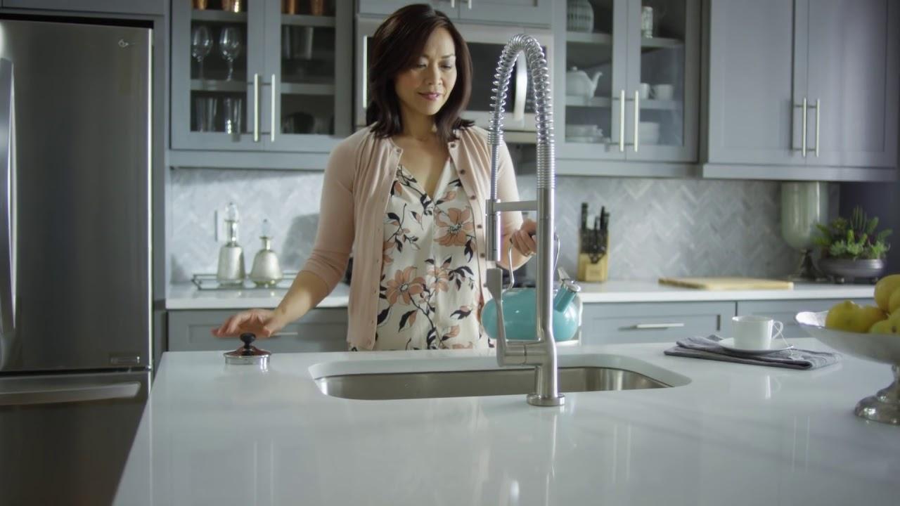 Axor Citterio Semi Pro Kitchen Faucet Youtube
