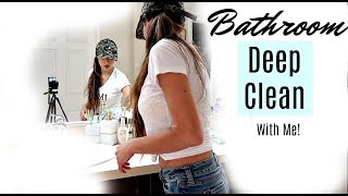 Bathroom Deep Clean With ME! | POWER HOUR CLEAN! | CLEANING MOTIVATION 2018