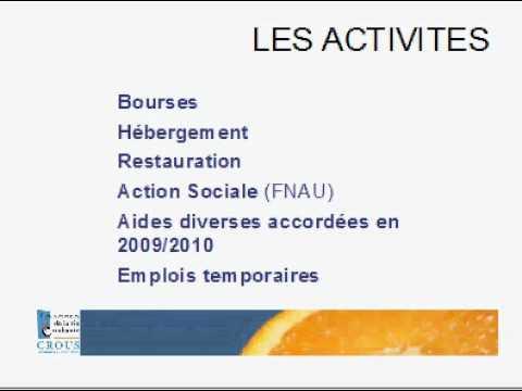 2 - Projet établissement CROUS Amiens Picardie 2011/2014 -  Activités