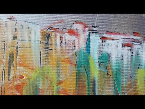 Mixed Media Acrylic And Oil Pastels Youtube