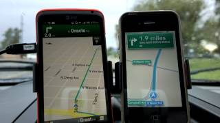 Drive Test: iOS 6 Turn By Turn versus Google Maps and Navigation Free HD Video