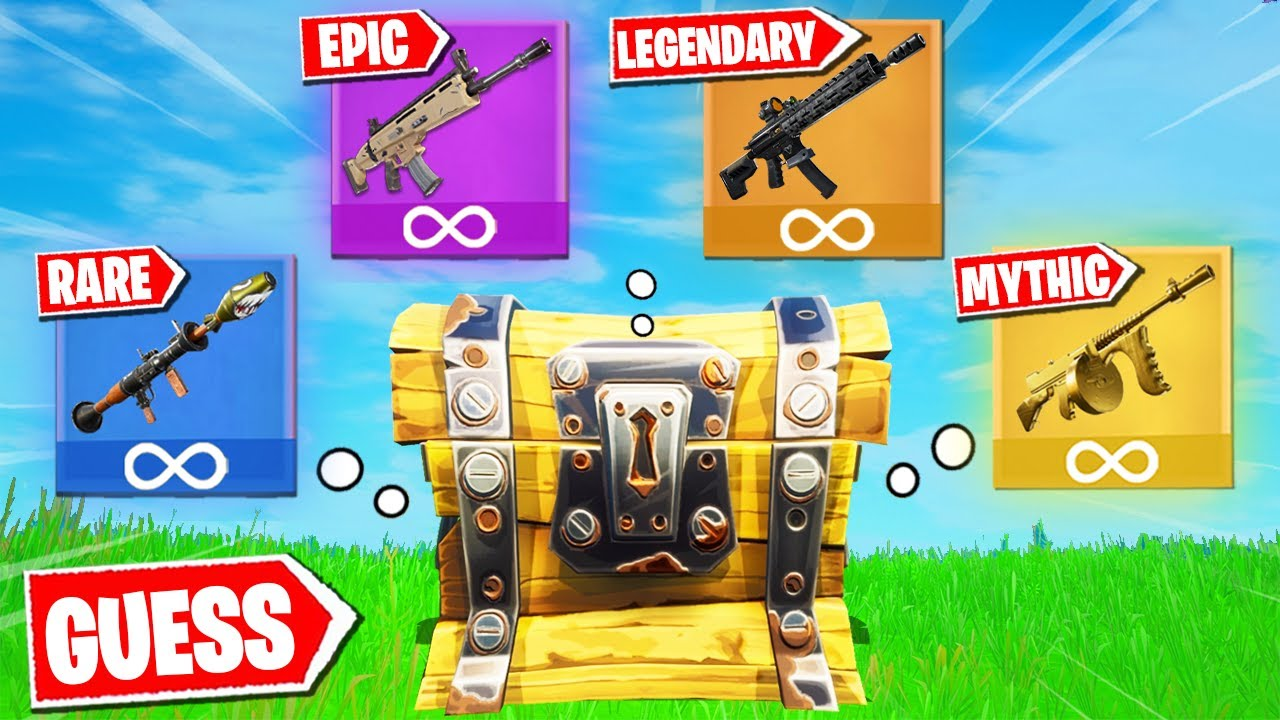 Fortnite, But I Have to GUESS the RARITY
