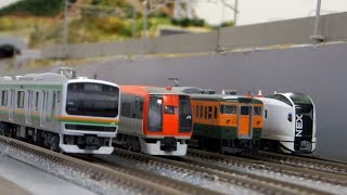 鉄道模型〈Nゲージ〉湘南新宿ライン&横須賀線大集合