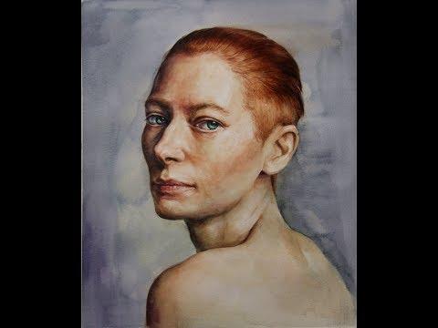 Watercolor Portrait Tutorial (speed painting & 8X video)