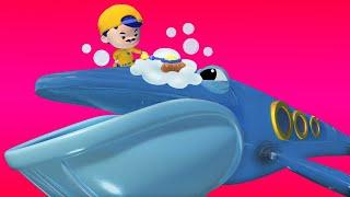 АнимаКары - КАНУН НОВОГО ГОДА : Джонни моет КИТА ПОДЛОДКУ - мультфильмы с животными со зверюшками