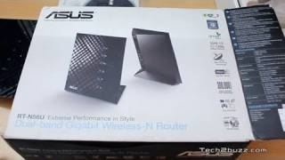 Asus RT N56U WiFi router unboxing