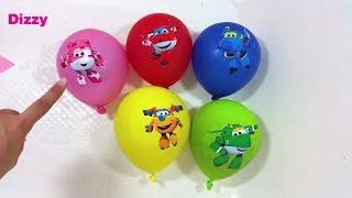 Super wings aprender colores en español con sus globos
