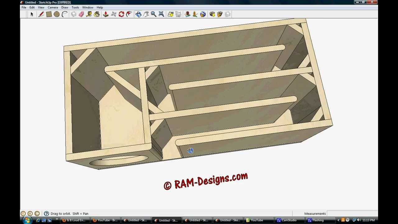 Ram designs t line box design for true bass 8 subwoofer for Ukuran box salon 8 inch