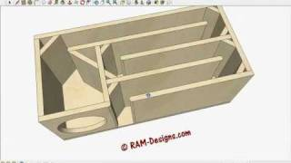 ram designs t line box design for true bass 8 subwoofer