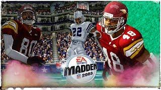 Madden NFL 2003 | 4K HD Redskins vs Cowboys in 2018 | Emmitt Smith Show!!!