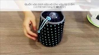 [+Hoavoanvip] Túi Hâm Nóng Bình Sữa Không Dùng Điện Babymoov