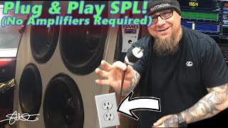 Plug & Play SPL - No Amplifiers Required! 4 DC Audio 15's Wired Direct to Wall Socket and Metered