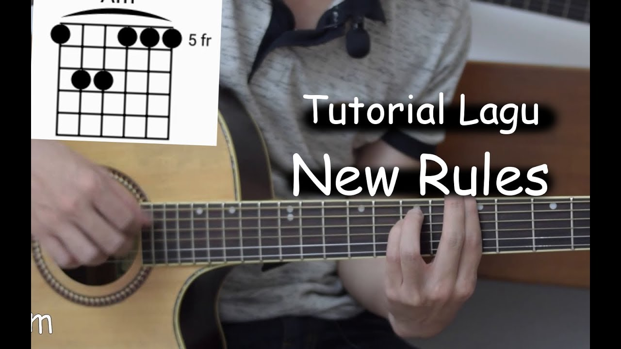 Belajar Gitar New Rules Dua Lipa Youtube