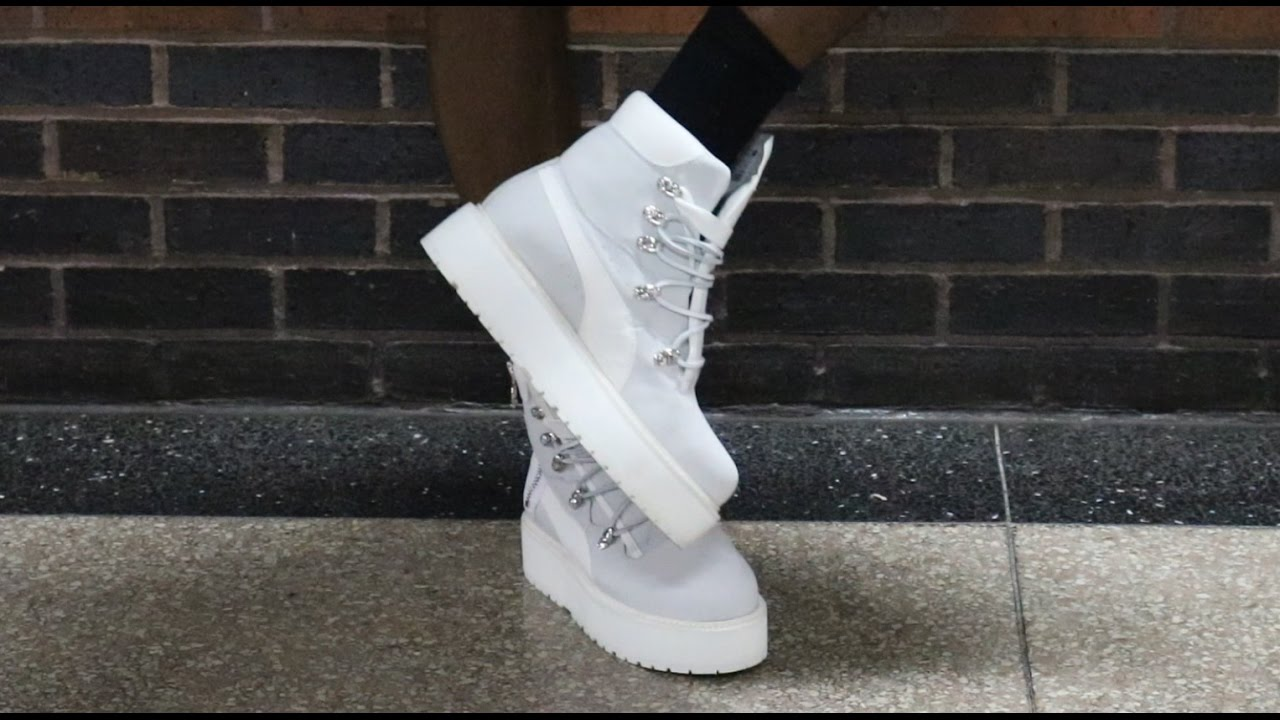 Rihanna Fenty Puma Sneaker Boot Unboxing Plus Outfit Look - YouTube 60a40eaa7