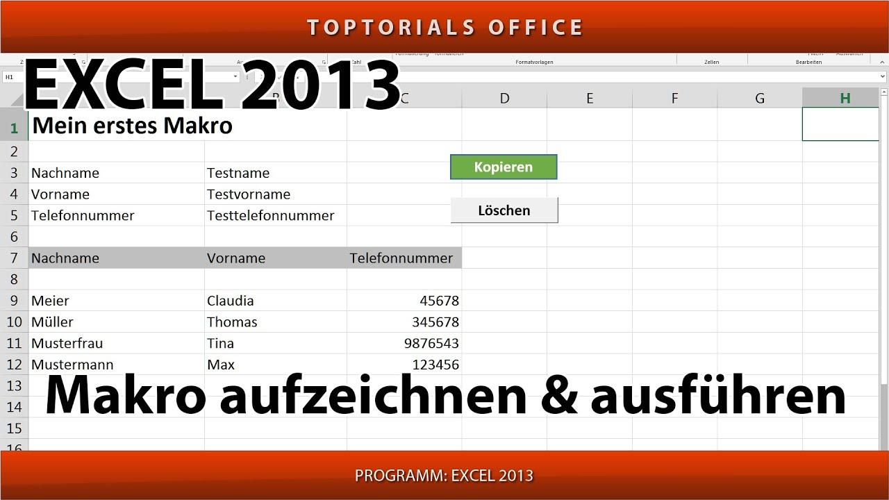 Makro Erstellen Und Ausführen Ganz Einfach Excel Youtube