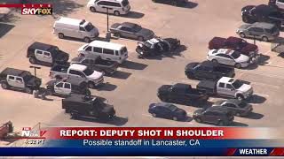 SUSPECT SEARCH: Deputies look for suspect near sheriff's department in CA