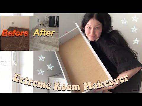 My EXTREME Bedroom Makeover: Floors, Lighting, Doors, & Furniture
