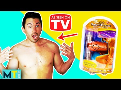 Men Try 'As Seen on TV' Products - SalonBronze Self Tanning Spray