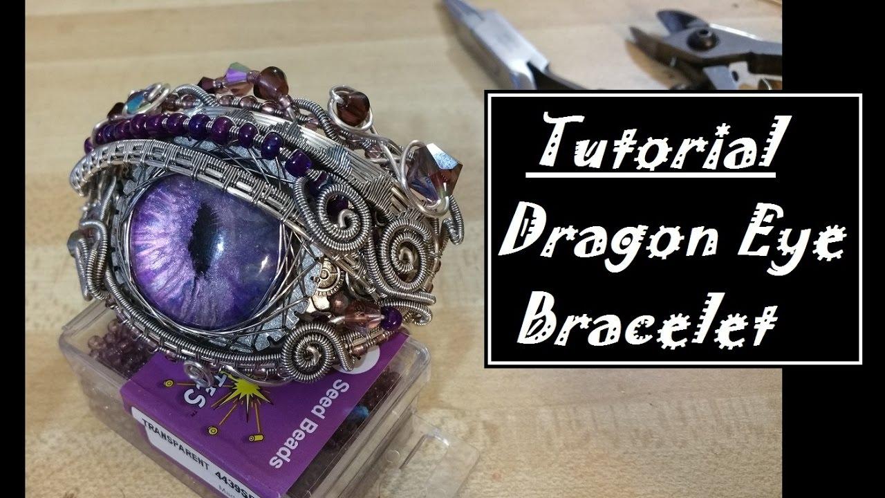 Fabulous Wire Wrapped Dragon Eye Bracelet - YouTube AM77