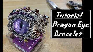 Wire Wrapped Dragon Eye Bracelet