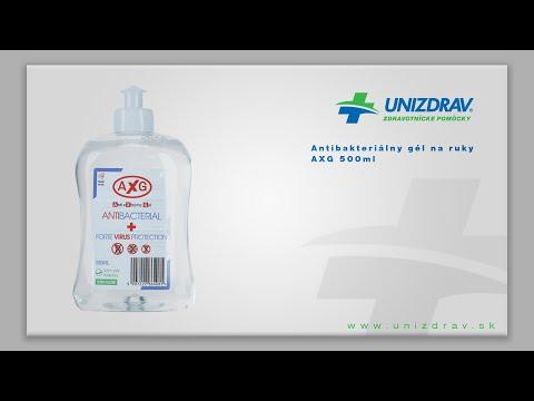 Antibaketrialny gél na ruky AXG - VIDEOMANUÁL