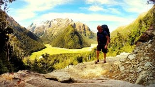 Tramping the Scenic Routeburn Track, filmed in HD with a GoPro