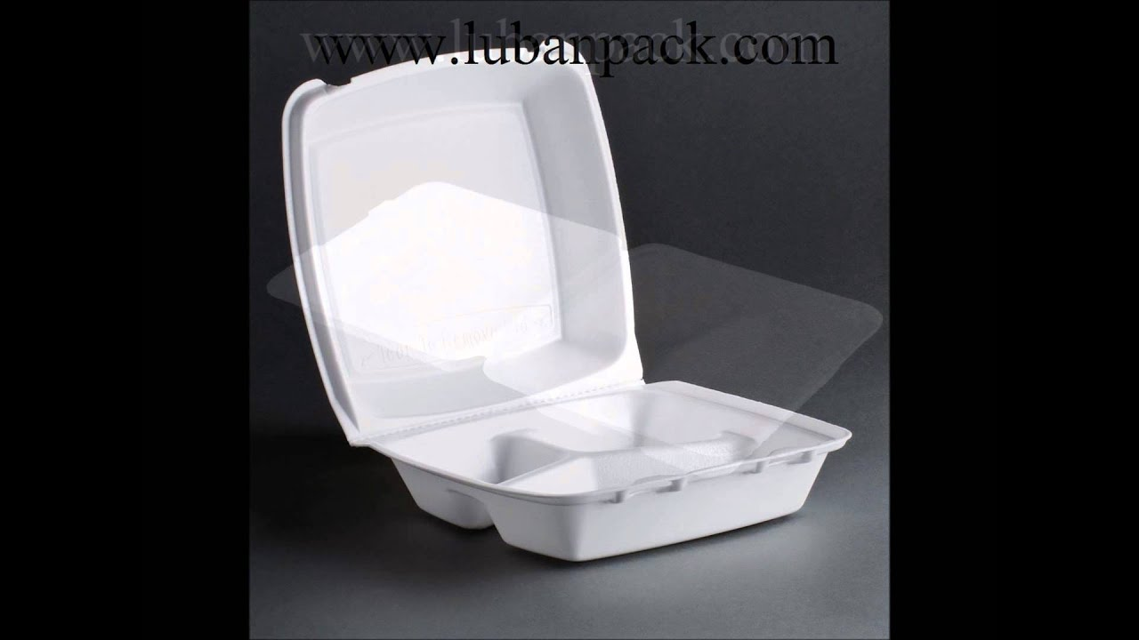 Lunch Box Foam Disposable Three Compartment Manufacturer - Luban Pack - YouTube & Lunch Box Foam Disposable Three Compartment Manufacturer - Luban ...