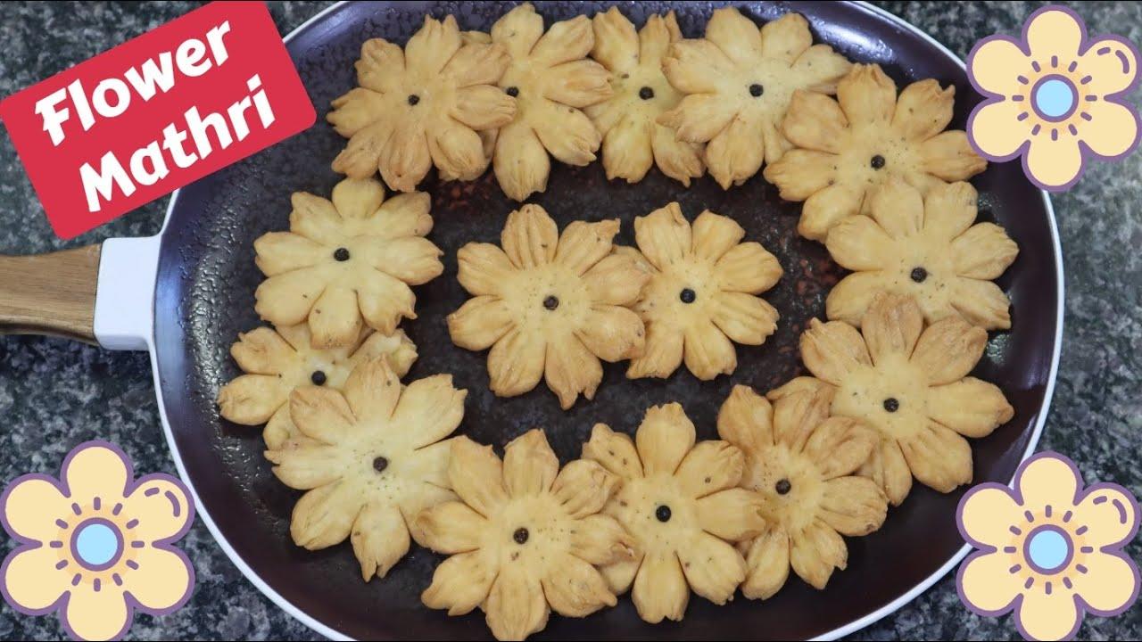 Flower Mathri | फ्लॉवर मठरी | Easy to make Designer Mathri Recipe | How to make Mathri at Home