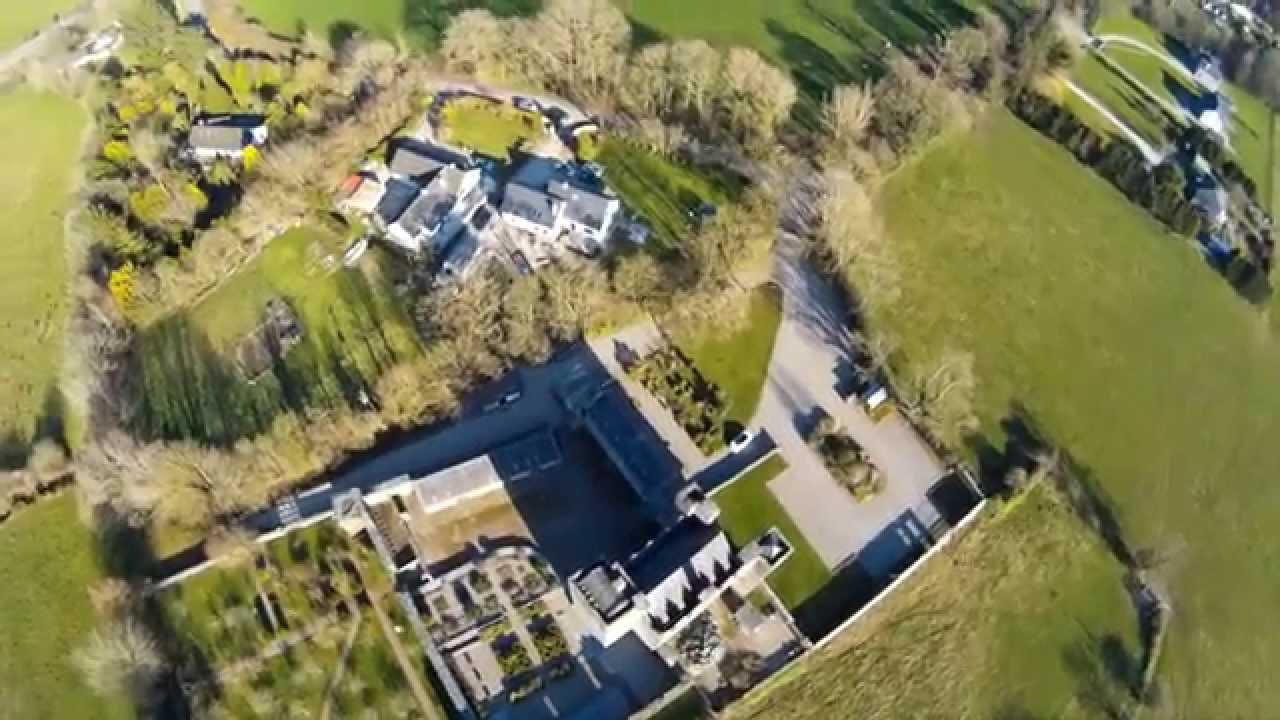 barryscourt castle co cork ireland birds eye view