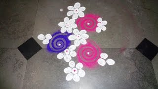 beautiful flower rangoli 2016-11-26