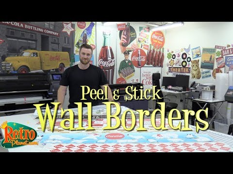 Peel And Stick Wall Borders From Retro Planet