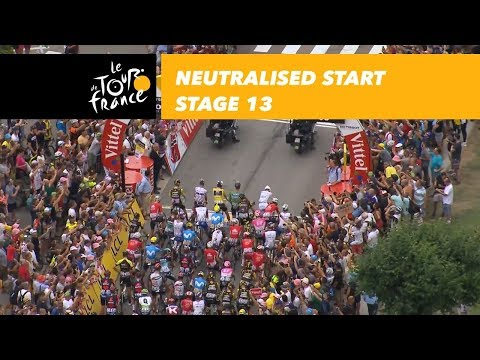 Neutralised start  Stage 13  Tour de France 2018