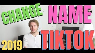 How To Change Name And Username On Tik Tok On Android Or IPhone 2019