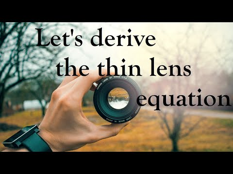 Deriving Thin-lens equation