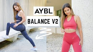 NEW AYBL BALANCE V2 COLLECTION HIGH WAISTED SEAMLESS REVIEW + TRY ON | ASHLEY GAITA