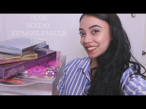 HUGE HOLIDAY 2017 MAKEUP HAUL!! PT. 1!!!!! Tarte, Becca, Huda Beauty & More