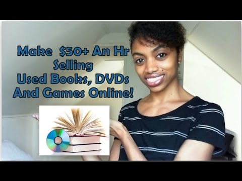Make Quick $50-$100 Selling Your Used Books, CDs, DVDs & Games Online