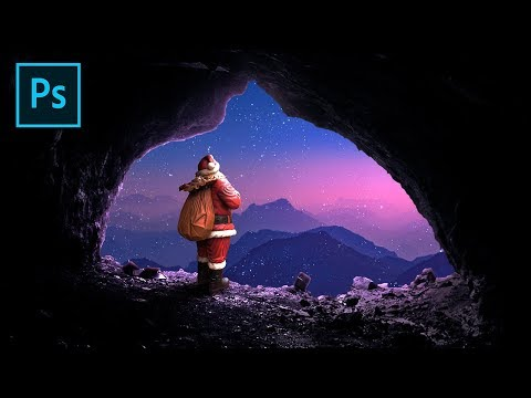 Santa Claus Merry Christmas Poster Photoshop Tutorial thumbnail