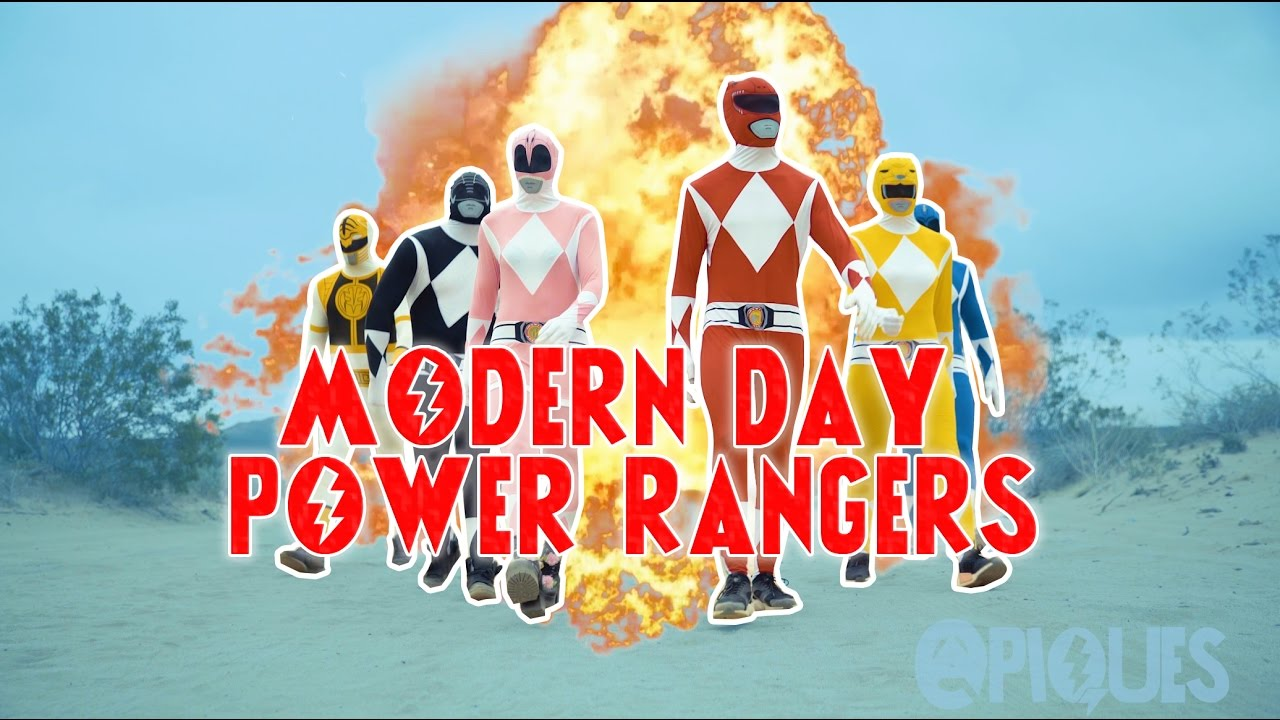 MODERN DAY MIGHTY MORPHIN POWER RANGERS