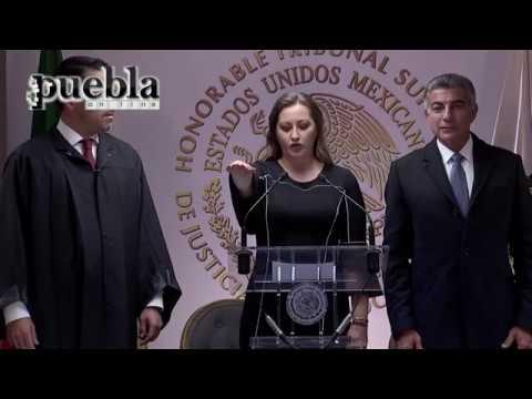 Martha Erika Alonso Hidalgo rinde protesta como Gobernadora de Puebla