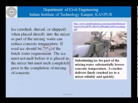 Mod-01 Lec-19 Concreting in hot weather