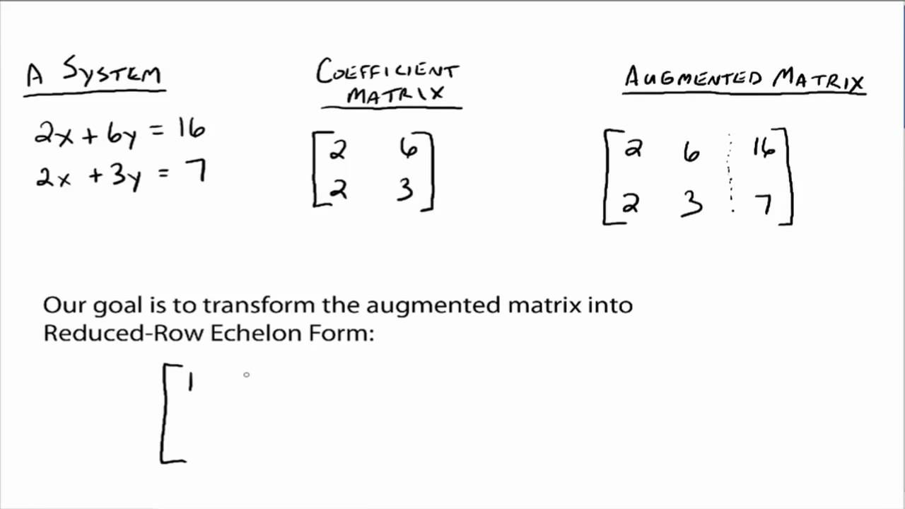 Matrices - Row Operations (1 of 4).mov - YouTube