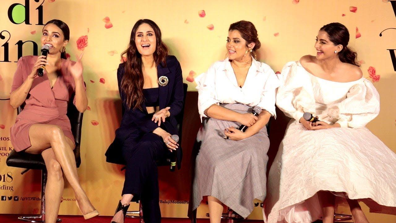 Veere Di Wedding Trailer.Veere Di Wedding Trailer Launch Kareena Kapoor Khan Sonam Kapoor Swara Bhasker Uncut